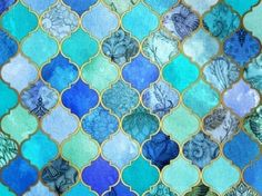 moroccan patterns blue - Google Search