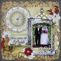 """Here Comes the Bride"" DT for Helmar - Scrapbook.com"