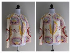 vintage 1980s RARE mary mcfadden for capriccio quilted jacket