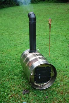 Picture of Barrel Furnace Build Wood Stove Heater, Diy Wood Stove, Barrel Stove, Stainless Steel Drum, Solar Energy Projects, Beer Keg, Rocket Stoves, Door Kits, Metal Projects