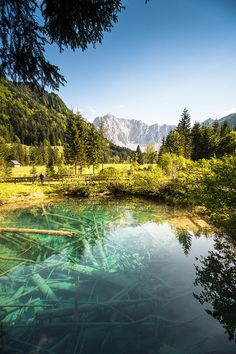 "Meerauge or ""The Sea Eye"" in Bodental Valley, Carinthia, Austria"