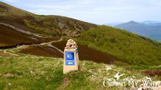 A Camino marker in the Pyrenees on the first day after leaving St-Jean-Pied-de-Port. This is not exactly Alpine trekking, but on any mountain range the weather can be treacherous.