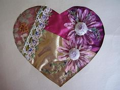 I ❤ embroidery & crazy quilting . . . Swapped with Garden Blooms ~By crazyQstitcher