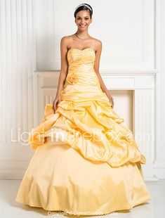 A-Line Strapless Sweetheart Floor Length Taffeta Prom Dress by TS Couture® 2018 - $109.99