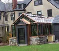 copper & glass greenhouse!