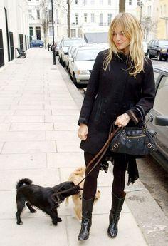 Sienna Miller - in elegant black