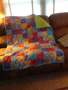 Enjoy making this quilt as you go pattern with a soft fleece back!