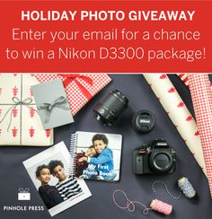 #Giveaway: Enter to #win a Nikon D3300 package this holiday from Pinhole Press! Ends 12/25