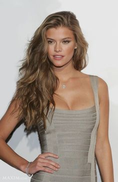 Nina Agdal. This is close to my natural hair color...(I think..) and I can't decide if I should go back or leave it dark! :/