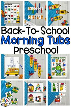 Are you looking for a new morning routine that will have your students entertained and engaged? These Back-To-School Morning Tubs for Preschool are fun, hands-on activities used to learn and review literacy and math concepts. These interactive morning tubs will help your students get ready for a day of learning. This set of 6 literacy and 5 math morning tubs are perfect for children around the ages of 3-4. Click on the picture to learn more about these morning work activities! #morningtubs