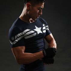 Cheap crossfit tops, Buy Quality shirt directly from China captain america t shirt Suppliers: Captain America T Shirt Printed T-shirts Men Avengers iron man Civil War Tee Cotton Fitness Clothing Male Crossfit Tops 3d T Shirts, Gym Shirts, Casual Shirts, Marvel C, Marvel Shirt, T Shirt Fitness, Mens Fitness, Captain America, Crossfit Men