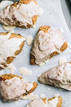 Maple Glazed Gingerbread Scones