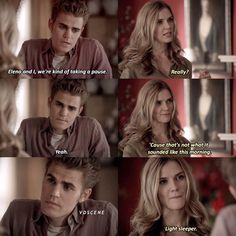 "Gefällt 7,887 Mal, 118 Kommentare - The Vampire Diaries (@vdscene) auf Instagram: ""[2x06] ic: itstvdscene — lmfao awkward I miss Jenna! Q: Did you like Jenna?"""