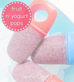 Frozen Fruit n' Yogurt Pops-twelveOeight- #popsicle #frozen fruit bar #yogurt bar #frozen yogurt #summer #snack