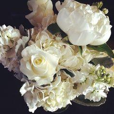 All-white bridesmaid bouquet from Dina, the Flower Maven at @Pinterest Creative Flowers Inc | Petal and Bean //   >> www.petalandbean.com   #breckweddings #breckbecause #breck #florist #floraldesign #bridesmaid #bouquet #wedding #flowermaven