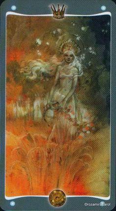 Queen of Coins Fairy Lights tarot (Queen of Pentacles)