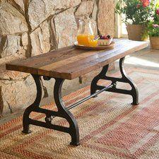 Reclaimed Wood / Iron Garden Bench