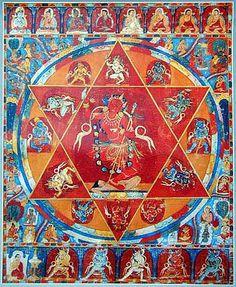 Vajravarahi Tibetan Mandala, Tibetan Art, Tibetan Buddhism, Buddhist Art, Le Tibet, Tantra Art, Complex Art, Vajrayana Buddhism, Thangka Painting