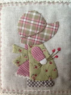 Moments Sewing: Save some . Quilt Block Patterns, Applique Patterns, Applique Quilts, Applique Designs, Embroidery Applique, Quilt Blocks, Machine Embroidery, Sewing Patterns, Sunbonnet Sue