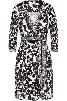 DIANE VON FURSTENBERG Tallulah Printed Silk-Jersey Wrap Dress. #dianevonfurstenberg #cloth #dress