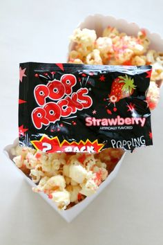 Firework Popcorn: Popcorn recipe that really POPS! Love popcorn and looking for a custom recipe solution? Make this popcorn really pop in your mouth with these fun candies! See what we did for party fun every day of the year. Created By MomDot - a parenting and crafting website.