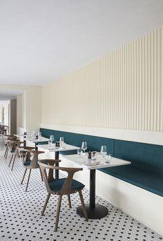 Norm Architects Create Dark Industrial Interior for Copenhagen Restaurant Restaurant Design, Deco Restaurant, Restaurant Concept, Italy Restaurant, Wings Restaurant, Restaurant Lighting, Design Commercial, Commercial Interiors, Churreria Ideas