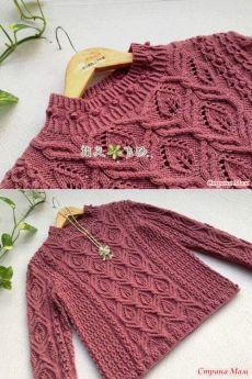 Очень красивый пуловер от японских мастериц. Не могу не поделиться. - Страна Мам