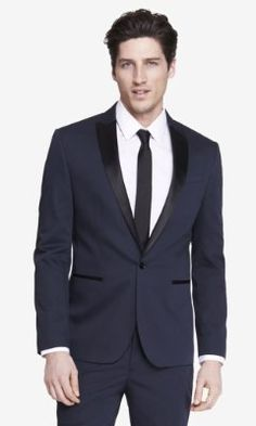 COLOR BLOCK TUXEDO JACKET from EXPRESS