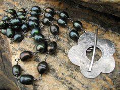 Ferskvannskulturperler og oksidert sølv