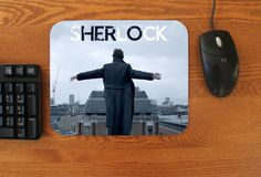 """""""Reichenbach Feels"""" Fan art on a Mouse pad Inspired by Sherlock Geek up your office space with this awesome mousepad! Features: - 7.75""""x9.25"""" - Rubber bottom"""