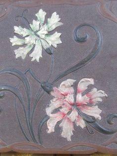 Superb Antique French Art Nouveau Chocolate Box, Hand Painted Carnations C1900  http://www.ebay.co.uk/itm/171269362365?ssPageName=STRK:MESELX:IT&_trksid=p3984.m1558.l2649