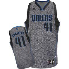 7ce9d3432 Adidas NBA Dallas Mavericks 41 Dirk Nowitzki Static Fashion Swingman Jersey