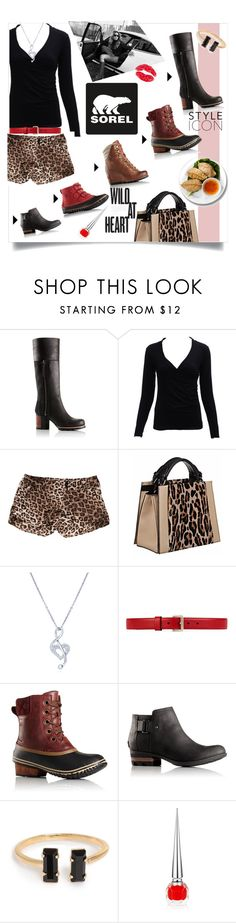 """""""Kick Up the Leaves (Stylishly) With SOREL: CONTEST ENTRY"""" by linkfari ❤ liked on Polyvore featuring SOREL, Alice + Olivia, Caroline De Marchi, BERRICLE, Gucci, Christian Louboutin and sorelstyle"""