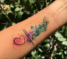 """Tattoo idea – except my ekg and use the word """"warrior"""" tattoo style – tattoo style - Best Tattoos Ideas Baby Tattoos, Little Tattoos, Friend Tattoos, Body Art Tattoos, Sleeve Tattoos, Flower Tattoos, Pretty Tattoos, Cute Tattoos, Beautiful Tattoos"""