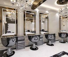 Beauty Salon Makeup Area on Behance Design Salon, Salon Interior Design, Beauty Salon Design, Beauty Room Decor, Beauty Salon Decor, Salon Wallpaper, Makeup Studio Decor, Esthetics Room, Barber Shop Decor