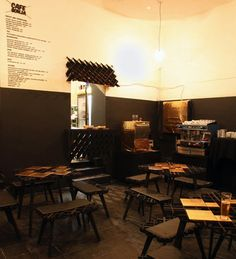 That's a swell name for a Cafe. Cafe Sonja by PostlerFerguson Design A Space, Cafe Design, Design Design, Retail Interior, Cafe Interior, Tea Cafe, Cafe House, Dark Furniture, Interior Decorating