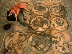 Mosaics  Photograph by Annie Griffiths Belt  Petra's heyday ended when the Romans rerouted trade in the second century A.D., sending the city into a long decline. In a fifth-century Byzantine church archaeologists found detailed mosaics.