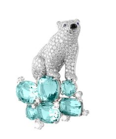 Van Cleef & Arpels diamond and aquamarine. Van Cleef & Arpels Collection Of Les Voyages Extraordinaires. Van Cleef Arpels, Van Cleef And Arpels Jewelry, Bijoux Art Deco, Azul Tiffany, Do It Yourself Fashion, Latest Jewellery, High Jewelry, Geek Jewelry, Jewlery