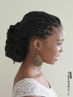 low bun african braids