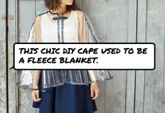 This chic DIY cape used to be a #fleece blanket.