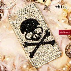 Skull iPhone 5S Case Luxury iPhone 5S  Skull by Alice7Dreams