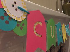Cute as a button banner by ARTdiCARTA on Etsy
