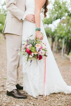 Pretty bouquet: http://www.stylemepretty.com/little-black-book-blog/2014/09/11/romantic-wilson-creek-winery-wedding/ | Photography: Wai Reyes - http://waiphoto.com/