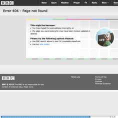 BBC 404 Error Page