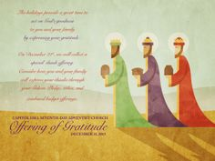 Offering of Gratitude for Advent