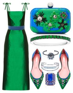 """Green + Blue"" by cherieaustin ❤ liked on Polyvore featuring Catherine Malandrino, The Vampire's Wife, Paule Ka, David Webb, Eddie Borgo, catherinemalandrino, EddieBorgo, pauleka, DavidWebb and thevampireswife"