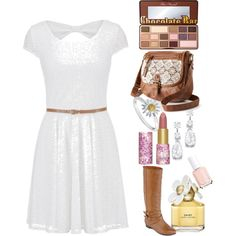 Spring Fling by country-girl888 on Polyvore featuring polyvore, fashion, style, maurices, Olsenboye, Mudd, Daisy Jewellery, Too Faced Cosmetics, tarte, Marc Jacobs and Essie