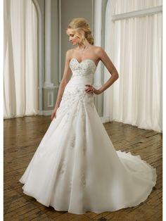 Classical Romantic organza Sweetheart A-Line Wedding Dress ML1662 - WeddingDressmall.com.au