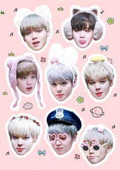 박지훈 워너원 Park Jihoon Wanna One Exo Stickers, Tumblr Stickers, Printable Stickers, Cute Stickers, Baby Park, K Pop, Memo Notepad, Got7 Fanart, Bts Face