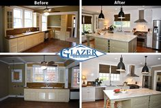 Before and after home renovations
